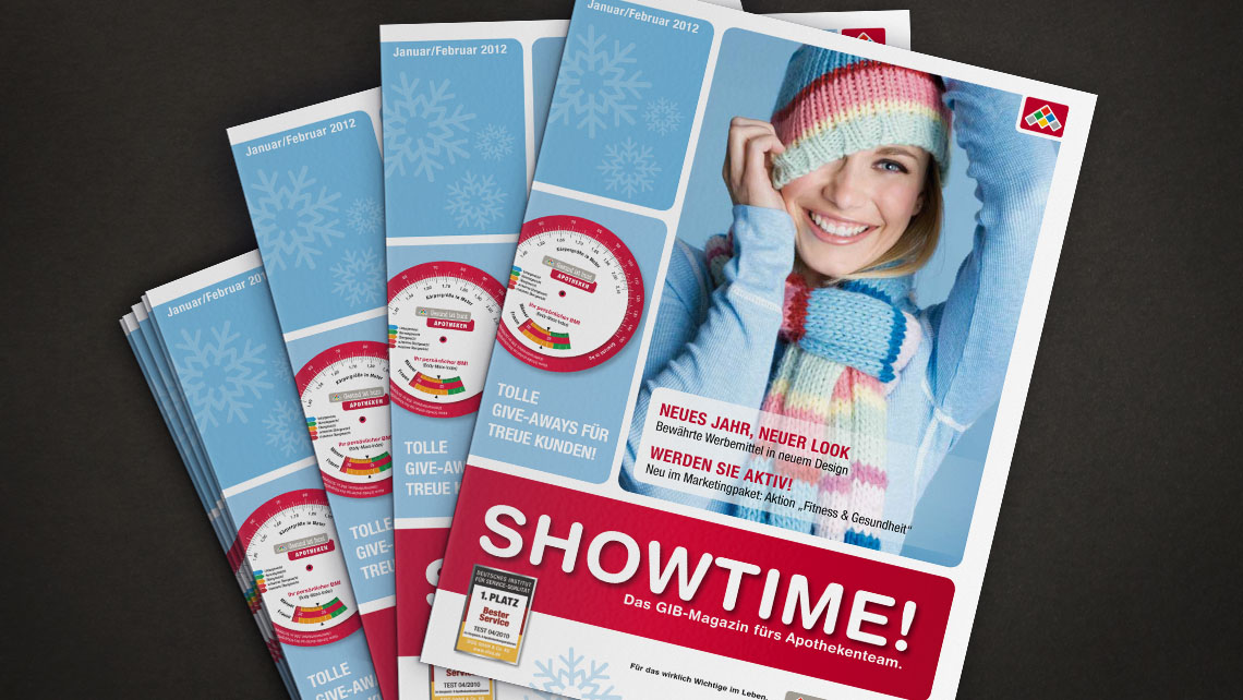 Marketingpaket / Showtime - Keyvisual, Magazingestaltung